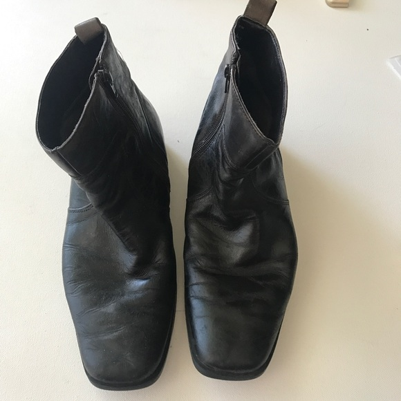 Have Other - Rockport Men Black Leather Boots Size 8.5